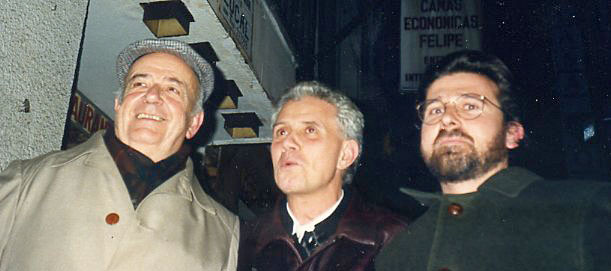 Julian Gállego, Paco Egido y Angel Pascual